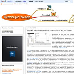 Exporter les cartes Freemind : tour d