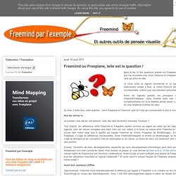 Freemind ou Freeplane, telle est la question !