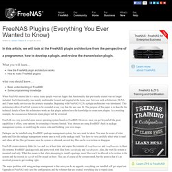 What's New with FreeNAS » FreeNAS Plugins (Everything You Ever Wanted to Know)
