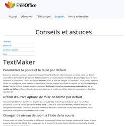 www.freeoffice.com - Conseils et astuces