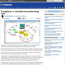 Freeplane: a versatile brainstorming tool