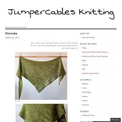 Freesia | JumperCablesKnitting