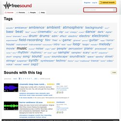 Freesound.org - tags