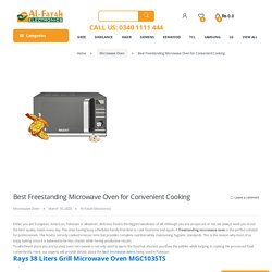 Best Freestanding Microwave Oven for Convenient Cooking - Alfatah Electronics!