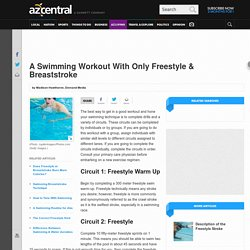 A Swimming Workout With Only Freestyle & Breaststroke