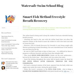 Smart Fish Method Freestyle Breath Recovery – Watersafe Swim School Blog
