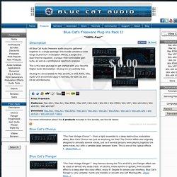 Blue Cat's Freeware Plug-ins Pack II - Download Freeware Audio Plugins (VST, RTAS, Audio Unit, DirectX) (Freeware)