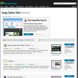 Free Image Gallery Tools Freeware downloads and reviews from SnapFiles