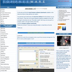 Best Freeware downloads and tips at TOPFREEWARE.NET