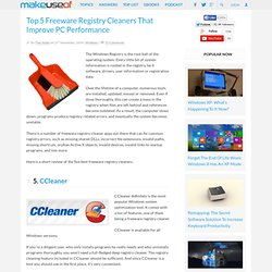 Top 5 Freeware Registry Cleaners That Improve PC Performance