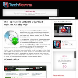 Top 15 Of The Best Windows Freeware Software Download Websites