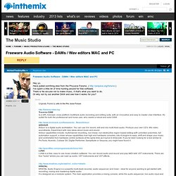 Freeware Audio Software - DAWs / Wav editors MAC and PC - inthem