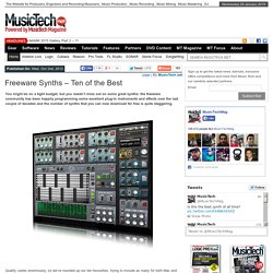 Freeware Synths - Ten of the Best