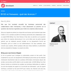 BYOD et freewares : quid des licences ? - Devoteam Group - France