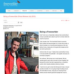 Being a Freeworlder (Press Release July 2013)