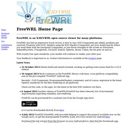 FreeWRL/FreeX3D Home Page