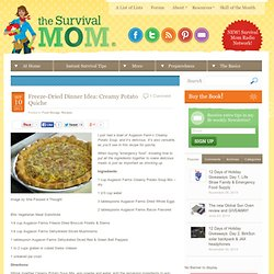 Freeze-Dried Dinner Idea: Creamy Potato Quiche