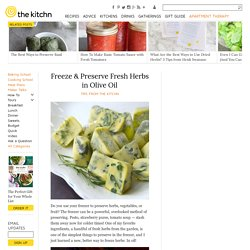 Freeze & Preserve Fresh Herbs in Olive Oil Kitchen Tip