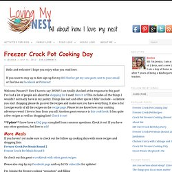 Freezer Crock Pot CookingLoving My Nest