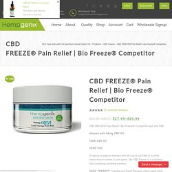 Bio Freeze® Competitor but with CBD