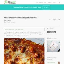 Make-ahead freezer sausage-stuffed mini peppers