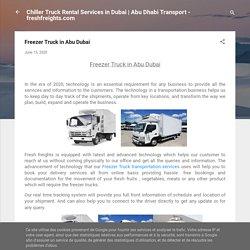 Freezer Truck in Abu Dubai