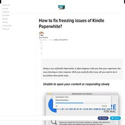 How to fix freezing issues of Kindle Paperwhite?