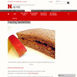 Freezing Sandwiches