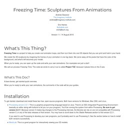 Freezing Time: Sculptures From Animations