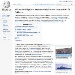 Affaire des frégates d'Arabie saoudite et des sous-marins du Pakistan