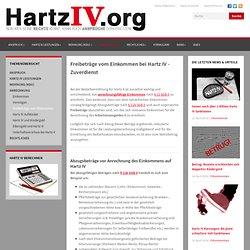 Freibeträge vom Einkommen bei Hartz IV - Zuverdienst – hartz-iv.info