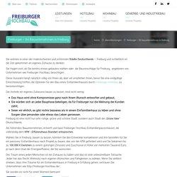Freiburger – Ihr Bauunternehmen in Freiburg - Freiburger Hochbau GmbH