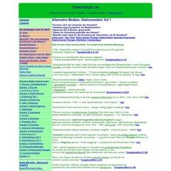 Alternative Heilung und Medizin ~ Blutzapper, Krebs Heilung, Aids, Hepatitis, Viren, Virus, Krankheiten, gesundheit, Wellness.