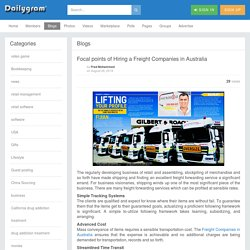 Focal points of Hiring a Freight Companies in Australia