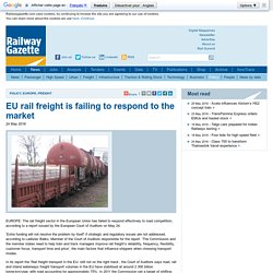 EU rail freight is failing to respond to the market