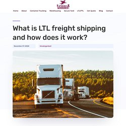 LTL freight shipping - SANDHAR TRUCKING in Richmond, BC