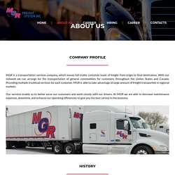 MGR Freight System, Inc – Miles ahead of everyone else