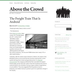 The Freight Train That Is Android