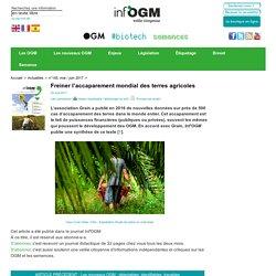Freiner l'accaparement mondial des terres agricoles