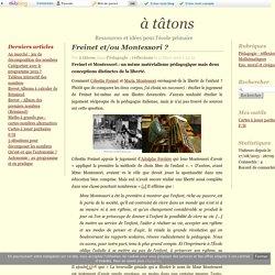 Freinet et/ou Montessori ? - Guillaume Goupil