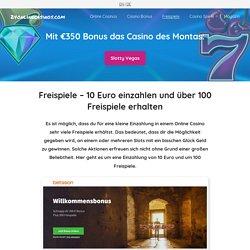 10 Euro einzahlen und 150 Freispiele erhalten