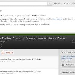 Luiz de Freitas Branco - Sonata para Violino e Piano