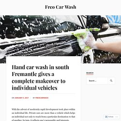 Hand car wash in south Fremantle gives a complete makeover to individual vehicles