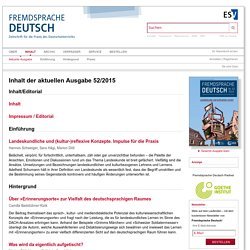 Fremdsprache Deutsch Ausgabe 52 2015