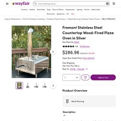 Gyber Fremont Stainless Steel Countertop Wood-Fired Pizza Oven in Silver