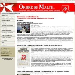L'Ordre Souverain Militaire Hospitalier de Malte Association Canadienne