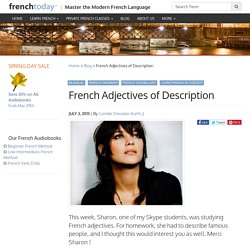 French Adjectives of Description - Learn French