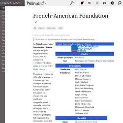 FONDATION AMÉRICAINE de FRANCE