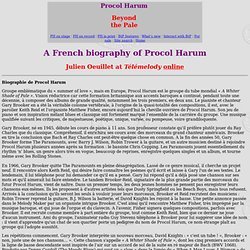 A French biography of Procol Harum