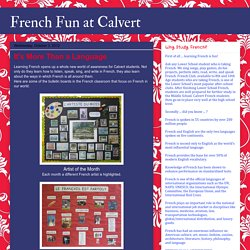French Fun at Calvert: It's More Than a Language